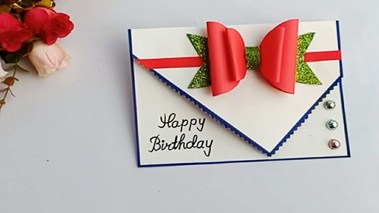 Beautiful Handmade Birthday card//Birthday card idea.  Handmade