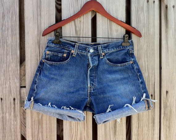 Vintage LEVI 501 Button Fly Jean Shorts  HIGH by TomieHarlene, $22.50