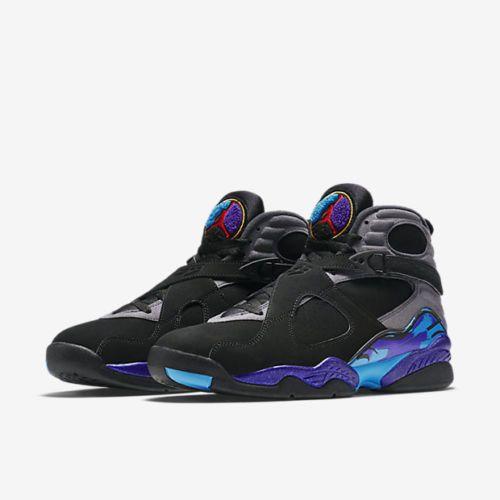 official photos 9c137 795f7 Nike Air Jordan 8 VIII Retro Aqua Black Mens Basketball Shoes S8.5   305381-025   Nike  BasketballShoes