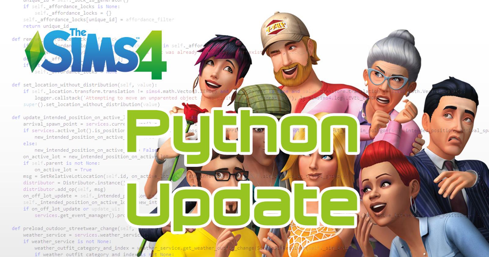 Python Patch Mod Updates - Master List | Sims cc