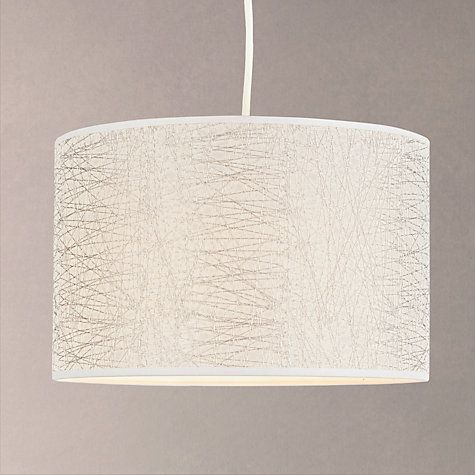 Silver Lamp Shades Captivating Buy John Lewis Amy Criss Cross Textured Lampshade Silver Online At Inspiration