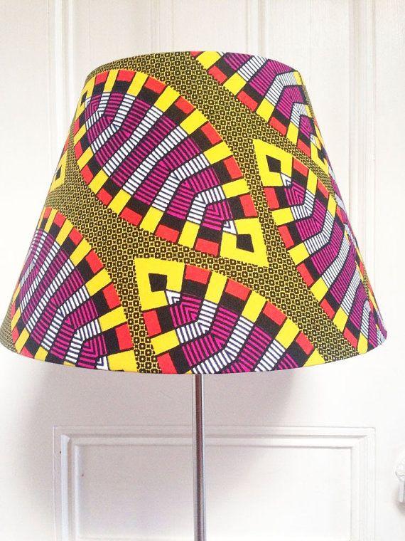 Lampe med afrikansk stof