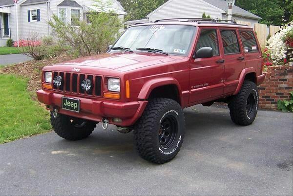 Jeep Xj Classic Chili Pepper Red Jeep Cherokee Xj Jeep