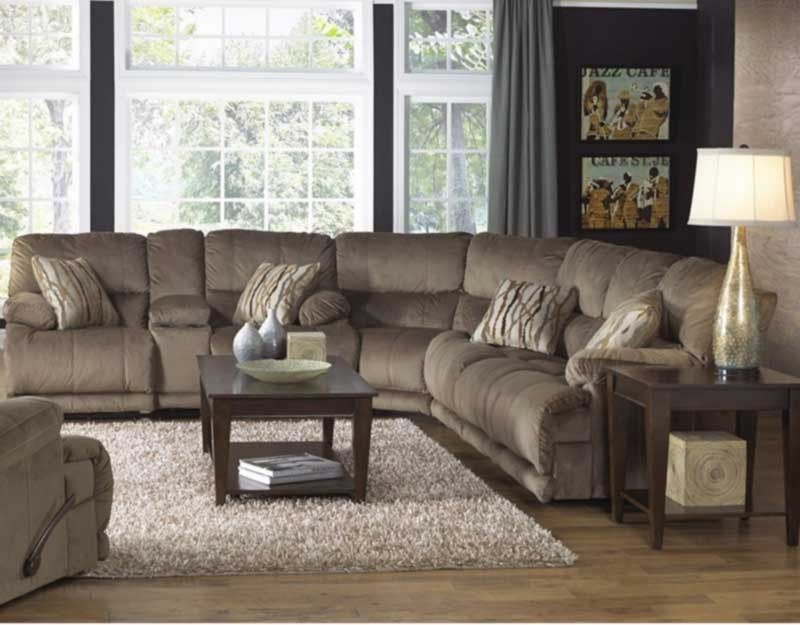 Catnapper - Riley 3 Piece Sectional Sofa Set in Musk ... on Riley 3 Piece Sectional Charleston id=77566