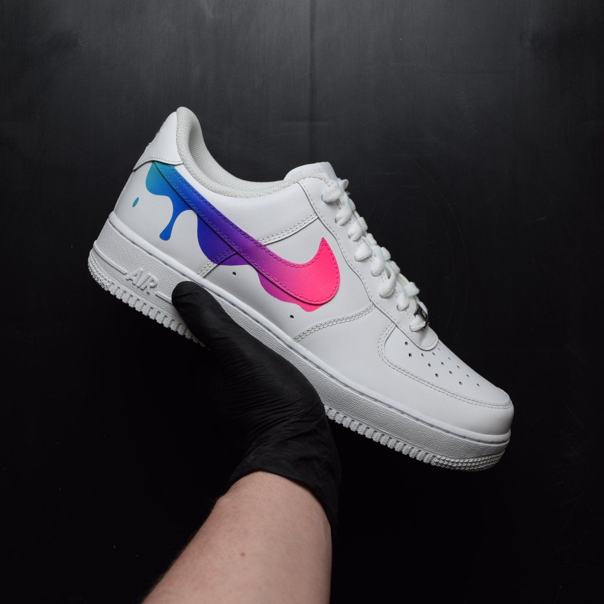 Nike air force 1 paint drip custom shoes in 2020 Nike