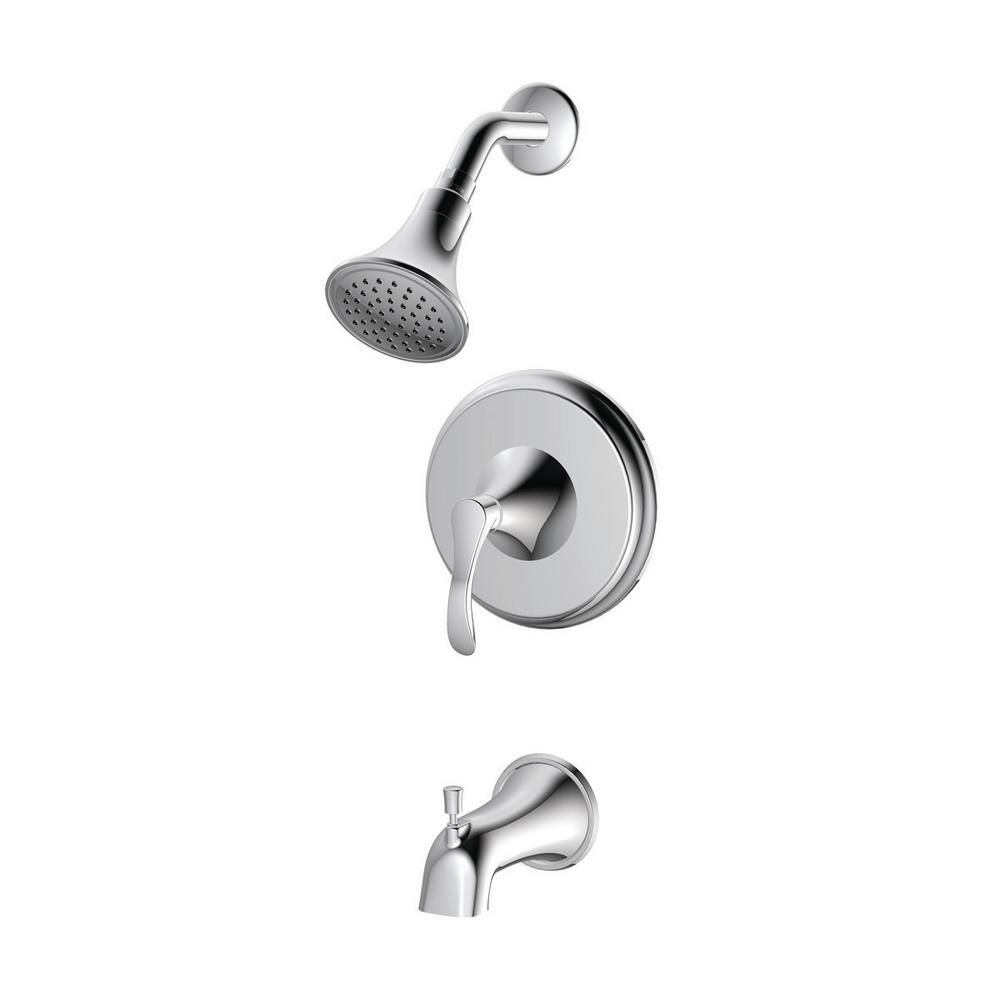 Ez Flo Sterling Collection Single Handle Tub And Shower Trim Kit
