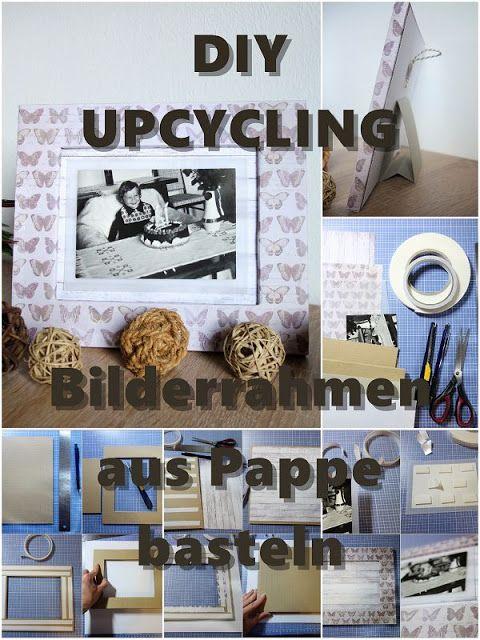 diy challenge bilderrahmen aus pappe basteln foto kreativ in szene setzen wandgestaltung. Black Bedroom Furniture Sets. Home Design Ideas