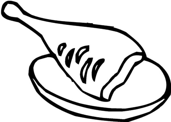 A Piece Of Fried Chicken Coloring Pages Download Print Online Coloring Pages For Free Color In 2020 Chicken Coloring Pages Chicken Coloring Online Coloring Pages