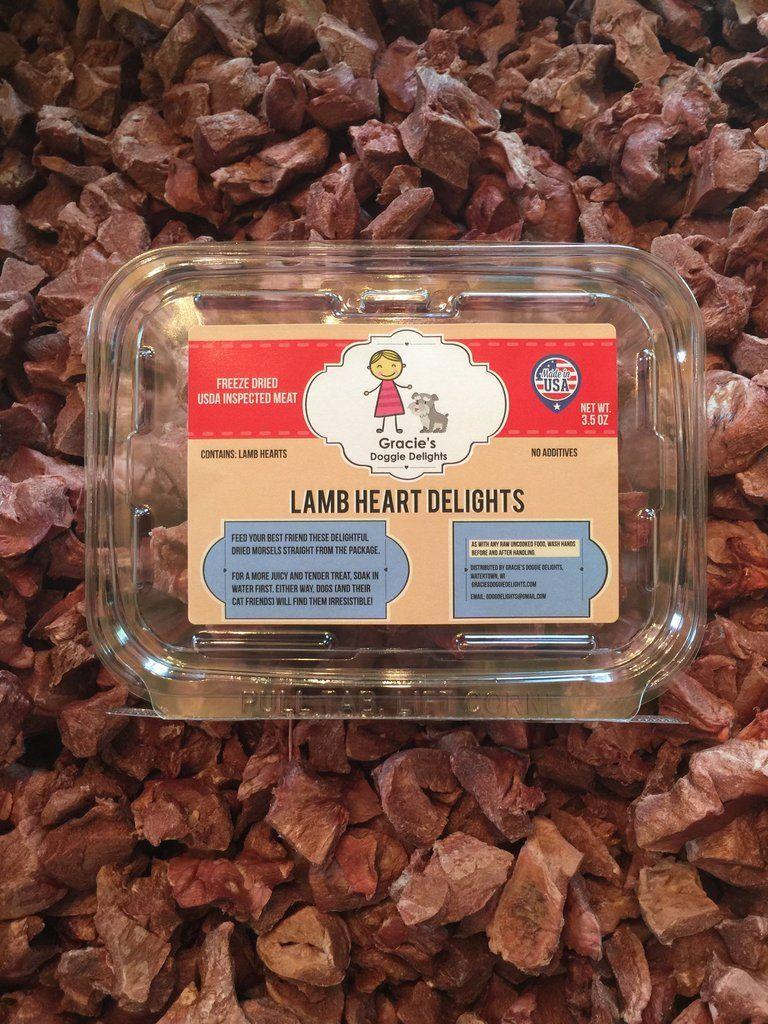 Gracies lamb heart delights freeze dried dog treats