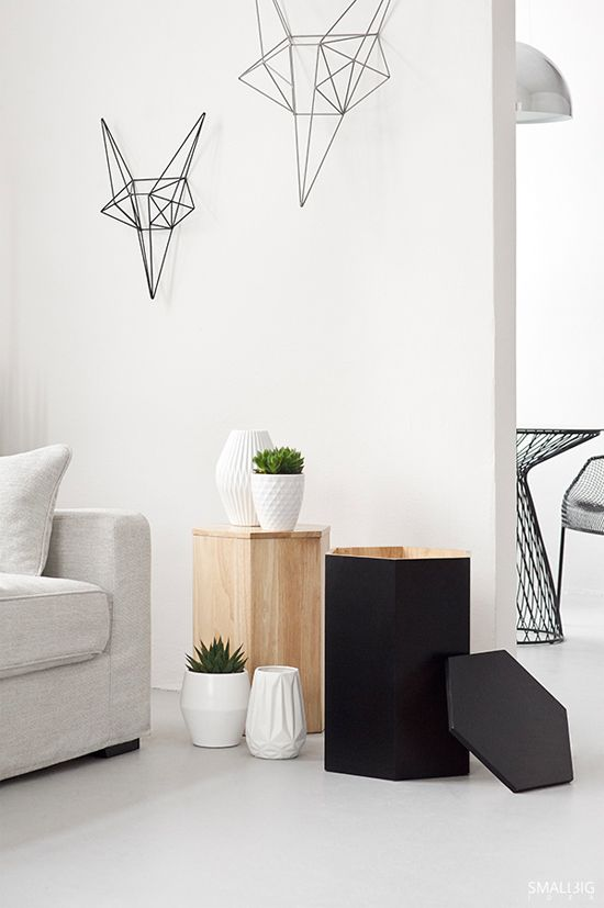 White Wall With Wire And Geometrical Motifs By Smallbigidea
