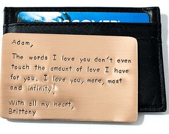 Father's Day Wallet Insert Card Personalized Unique by RameWorks