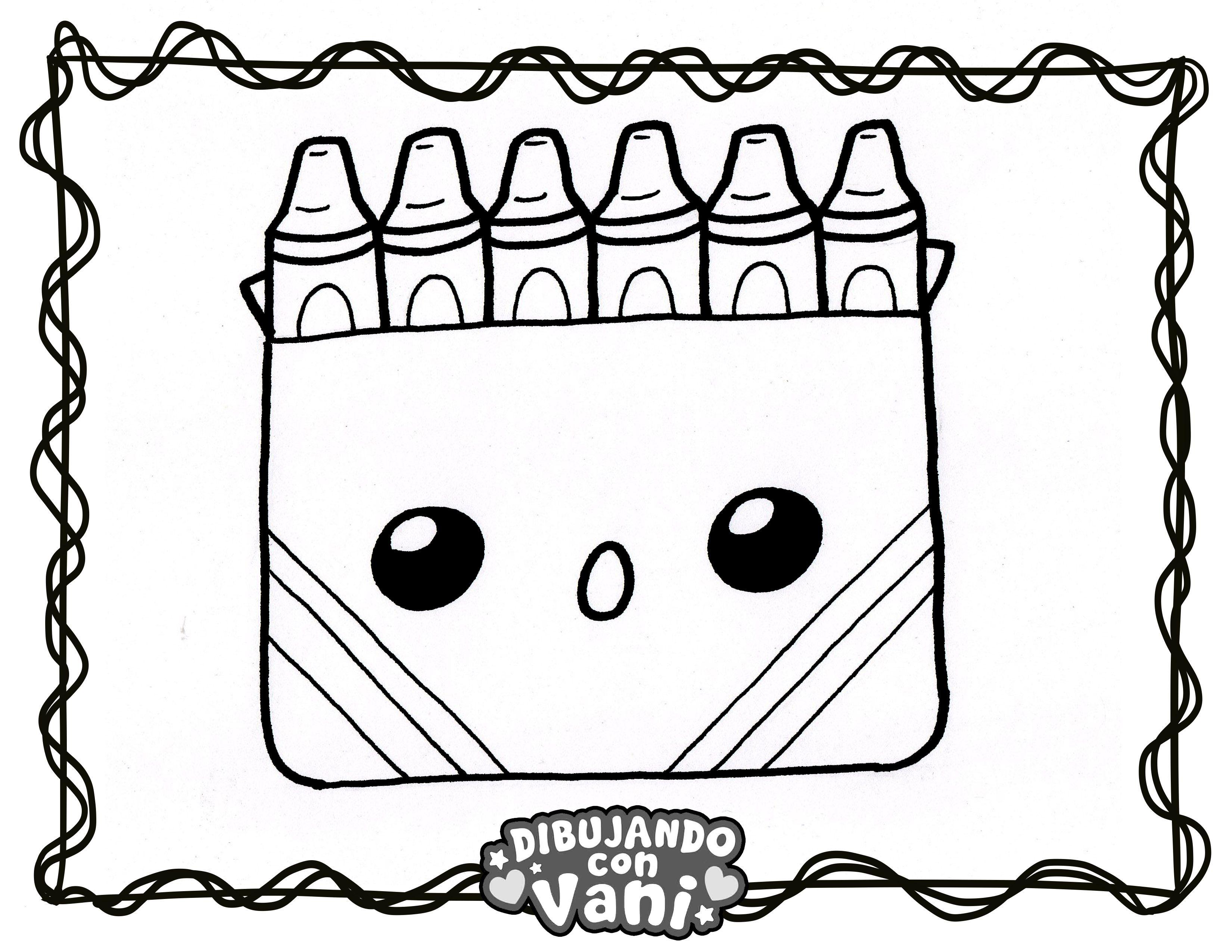 Crayones Kawaii Dibujos Kawaii Dibujos Para Colorear Dibujos
