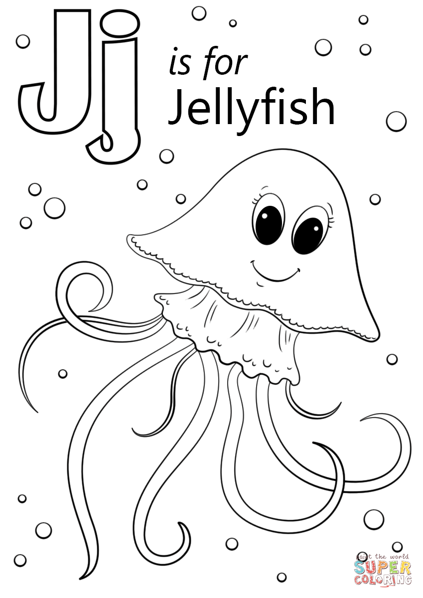 Letter J is for Jellyfish | Super Coloring (With images ...