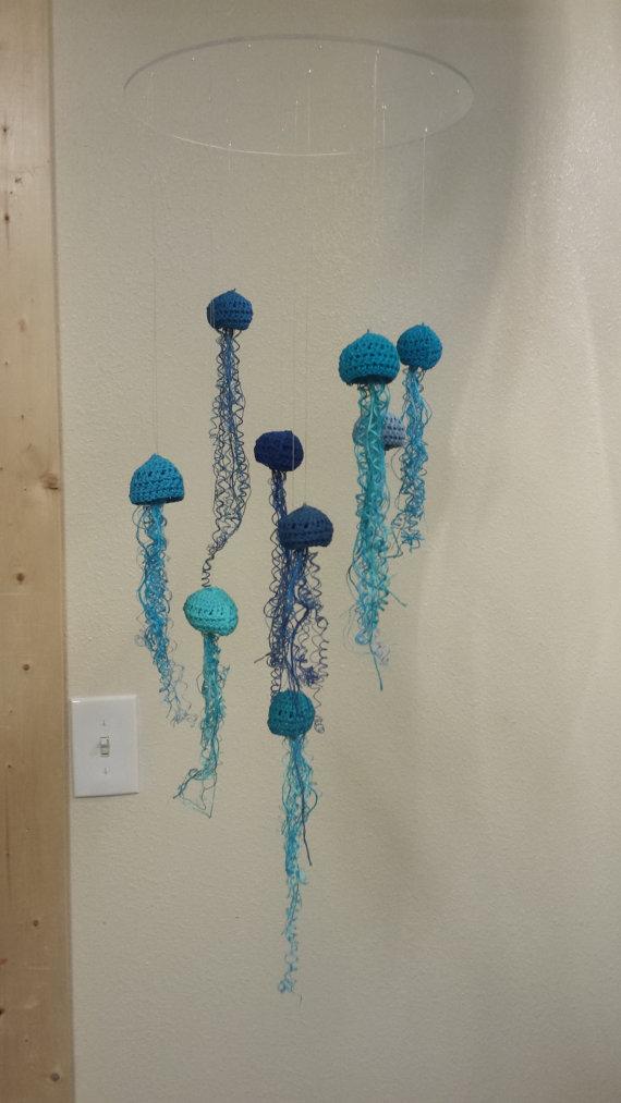 Häkelanleitung Qualle Medusa Krake Jellyfish Spielzeug | Etsy | 1013x570