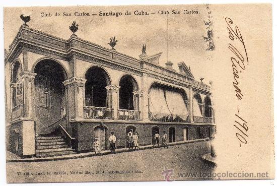 CUBA, CLUB SAN CARLOS, SANTIAGO DE CUBA, EDIT.RAVELO, NO DIVIDIDA (Postales - Postales Extranjero - América - Cuba)