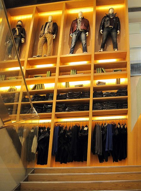 Retail Design | Store Interiors | Shop Design | the men up high [don't look down] pinned by Ton van der Veer