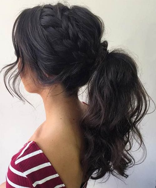 Prom Hairstyle Black Prom Hairstyles From Braids To High Pony  Black Prom
