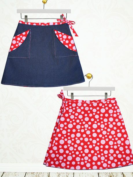 MADISON - Girls Reversible Wrap Skirt Sewing Pattern | Pdf sewing ...