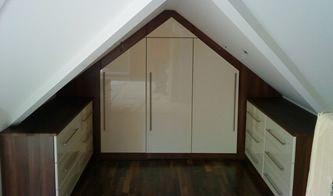 Wardrobe Storage Loft Wardrobes Solutions Angled Loft - Fitted loft bedroom furniture