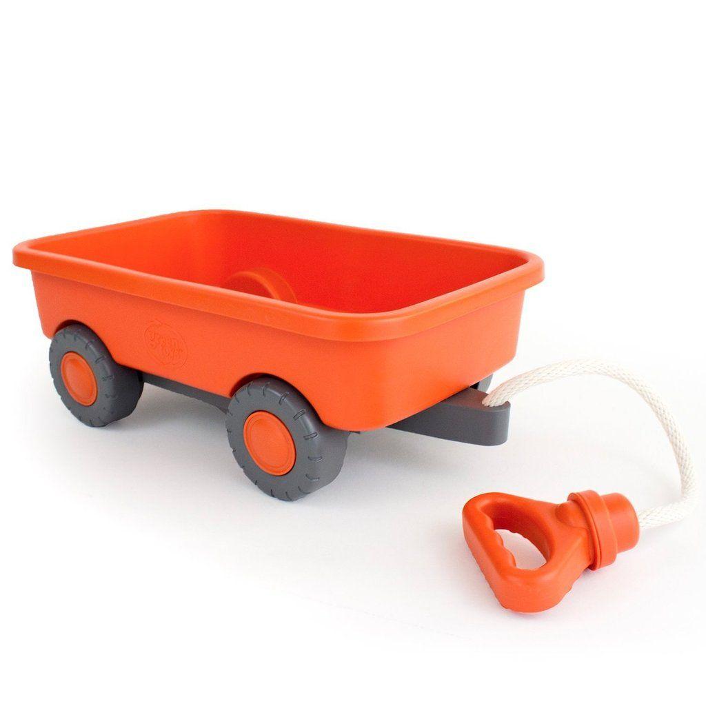 Green Toys Pull Wagon Orange Toy Wagon Green Toys Outdoor Toys
