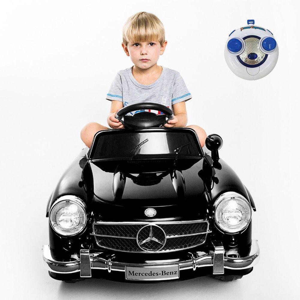Toys car image  Electric Ride On Sport Car Retro Mercedes Benz SL AMG Kids Ride