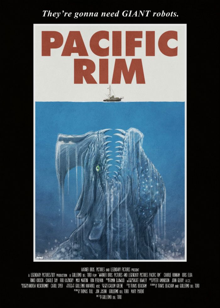 Awesome \'Jaws\' Inspired Poster For Guillermo Del Toro\'s \'Pacific Rim ...