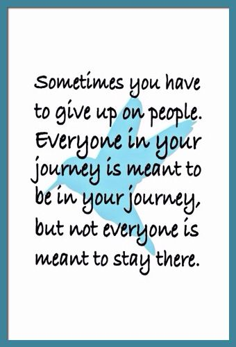 Sometimes you have to give up . . .
