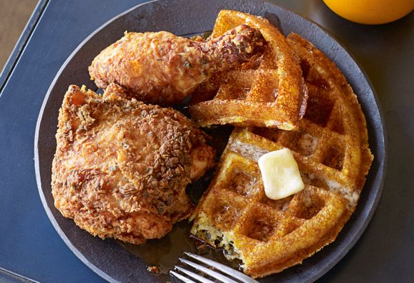 Down home done right soul food from brown sugar kitchen recipes buttermilk fried chicken and cornmeal waffles with apple cider syrup read more httpoprahfoodsoul food recipes brown sugar kitchen recipes forumfinder Choice Image