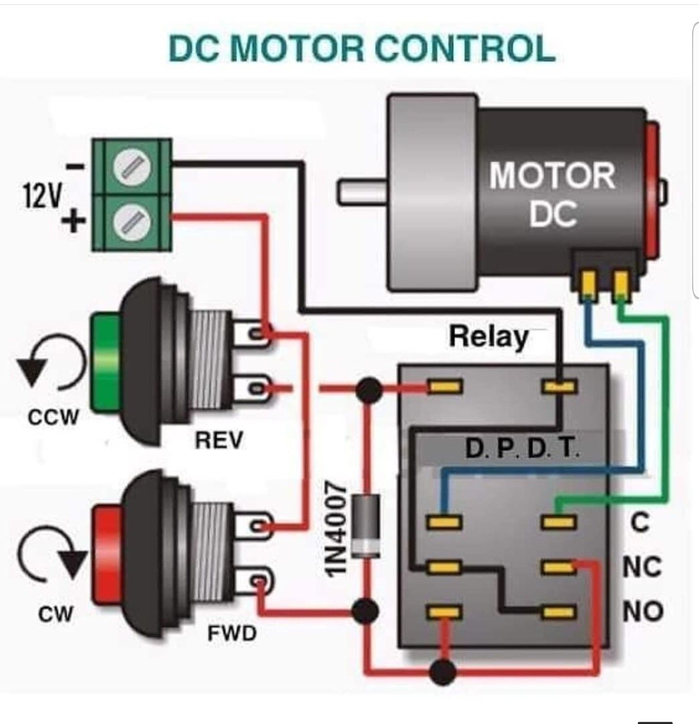 Pin By Hai Ho On Jednosmerni Motor Cw Ccw Electronics Projects Diy Electronics Basics Electronic Circuit Design