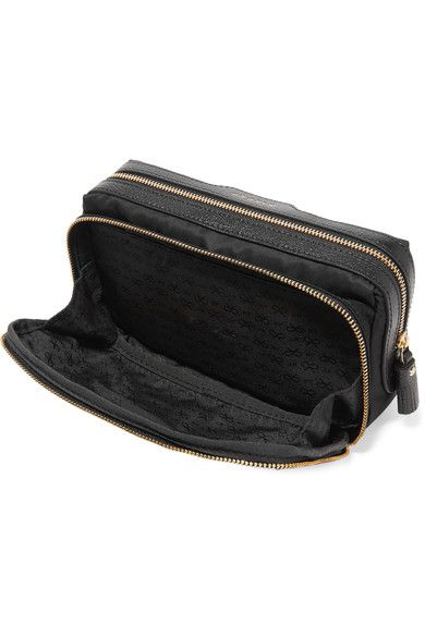 Make Up Leather-trimmed Shell Cosmetics Case - Black Anya Hindmarch ZpAEPVbw