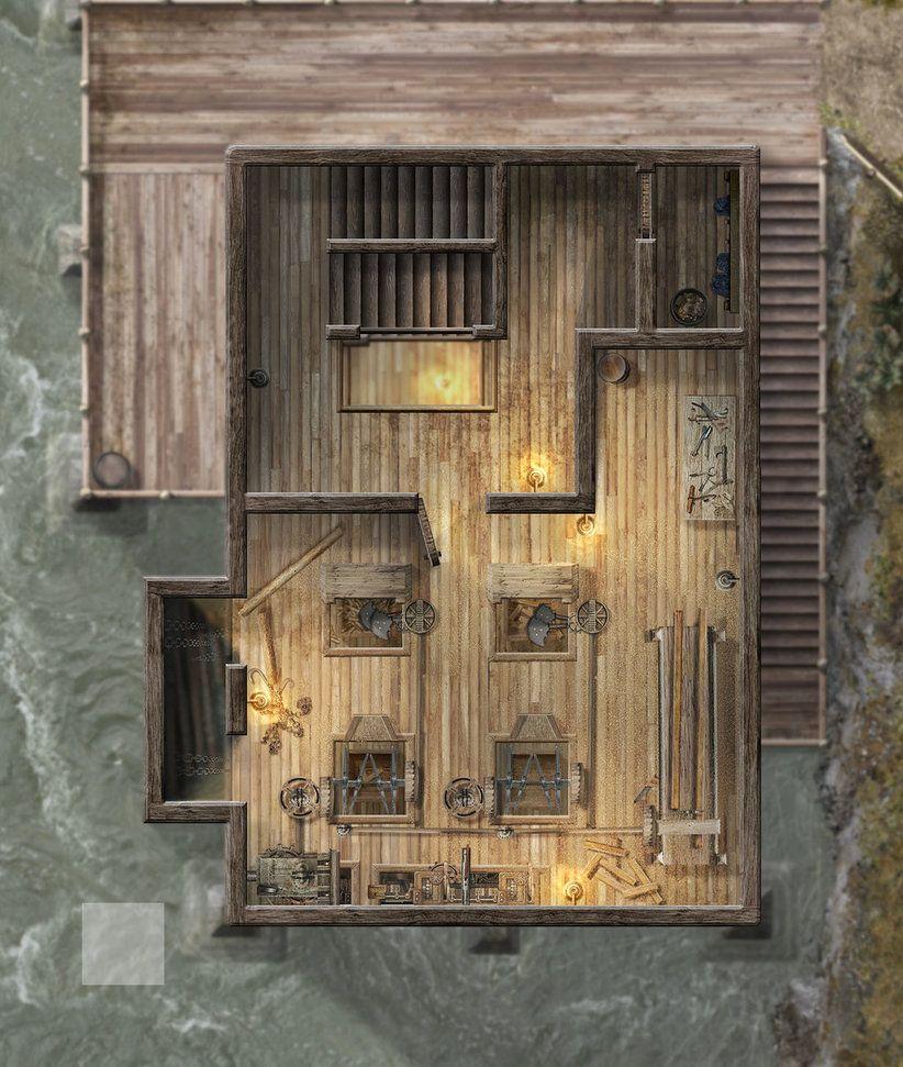 Sevenampaposs Sawmill Third Floor by hero339 Fantasy map maker Fa
