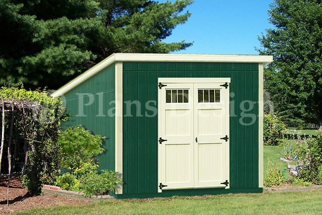 Shed Plans 10 X 10 Deluxe Modern Roof Style D1010m Free Material List 610708152026 Ebay Diy Shed Plans Shed Plans Roof Styles