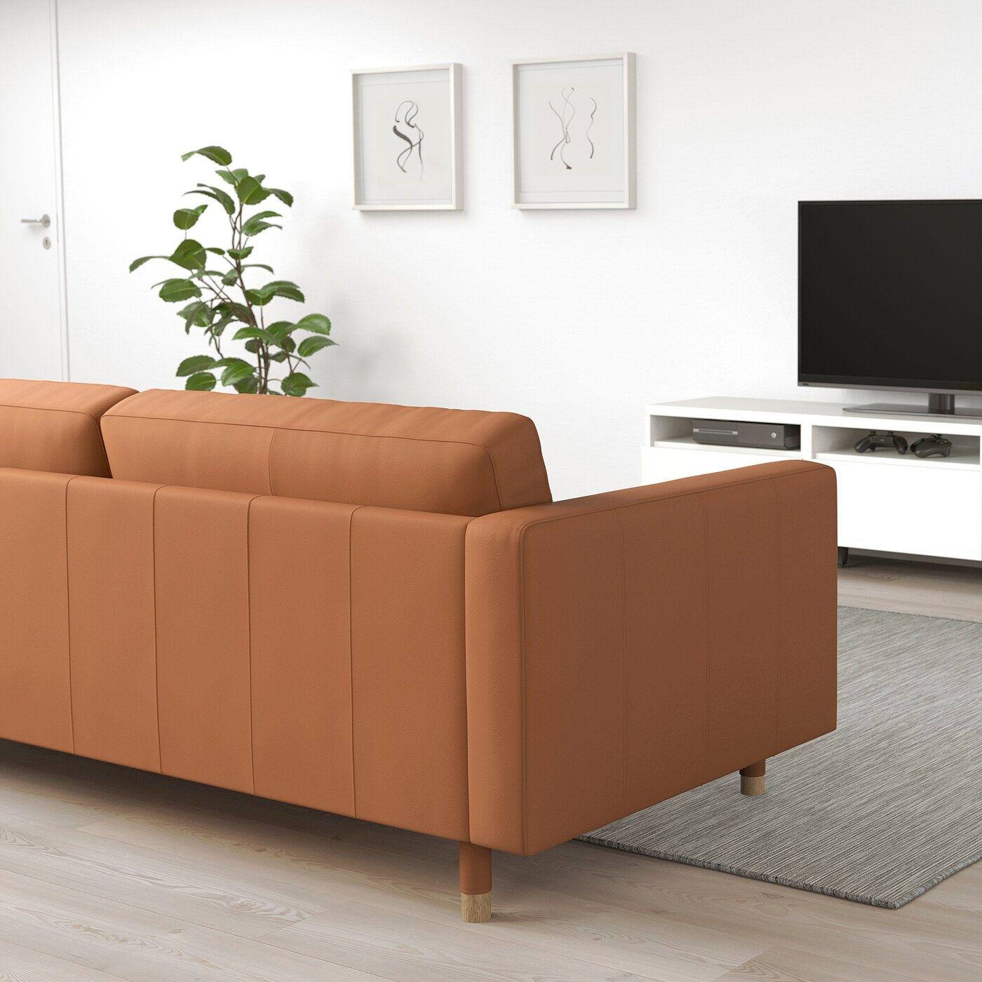 Landskrona 3er Sofa Grann Bomstad Goldbraun Heute Noch Bestellen Ikea Osterreich In 2020 3er Sofa Recamiere Sofa