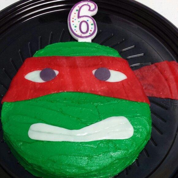 Joshuas 6th birthday cake Teenage Mutant Ninja Turtle