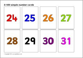 Simple 0 100 Number Cards Coloured Numbers Sb8923 Sparklebox Printable Teaching Resources Math Activities Preschool Math Centers