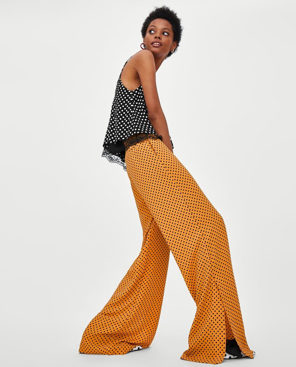 57c0500149 Image 1 of LONG FLOWING POLKA DOT PANTS from Zara | Style | Polka ...