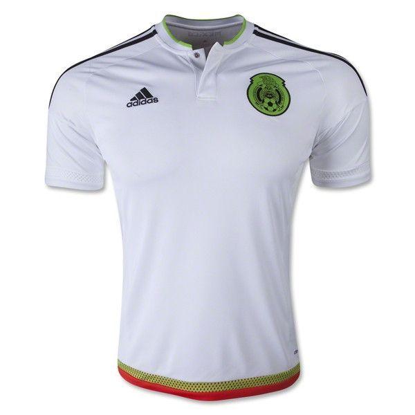 adidas Mexico 15 16 Away Jersey (White Green Red)  39395e322abb7