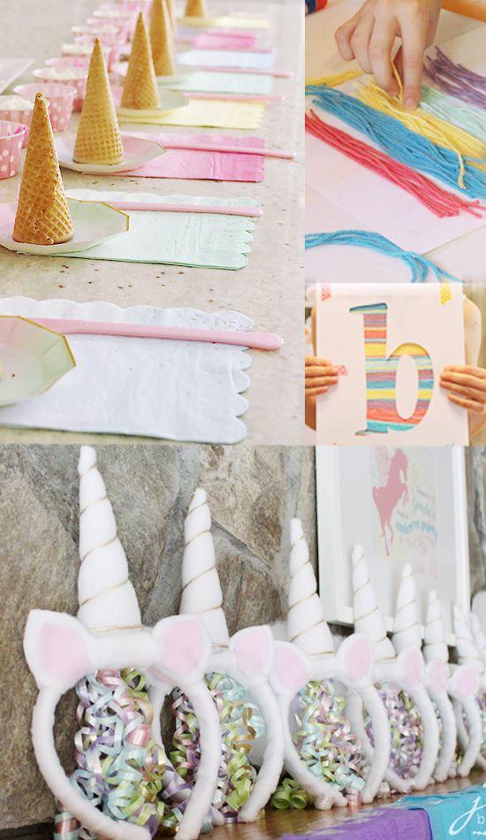 Mit diesen spiel ideen wird die einhorn party ein voller erfolg unicorns birthdays and diys - Bastelideen teenager ...