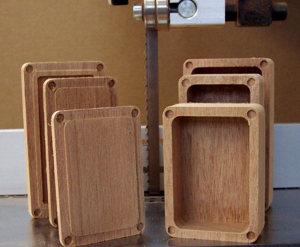 4 Wood Box Mod Dual 18350 Enclosure DIY Build Mahogany