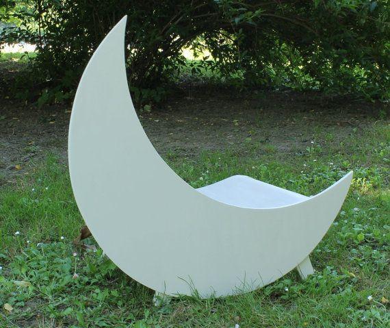 Hand made wood Moon prop Newborn prop by MoonlightLittleKnits, $120.00