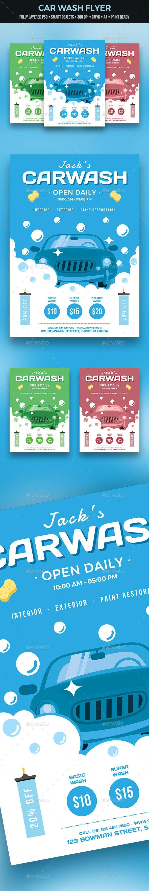 Car Wash Flyer  Car Wash Font Logo And Fonts