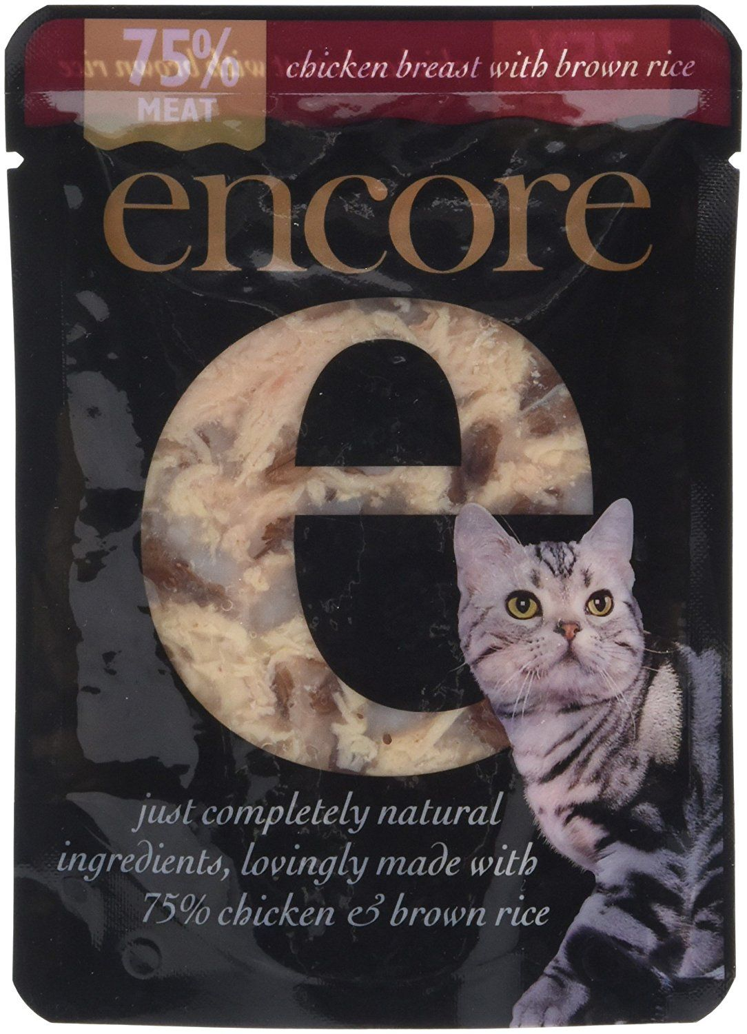 Encore cat pouch chicken and brown rice 70 g pack of 16