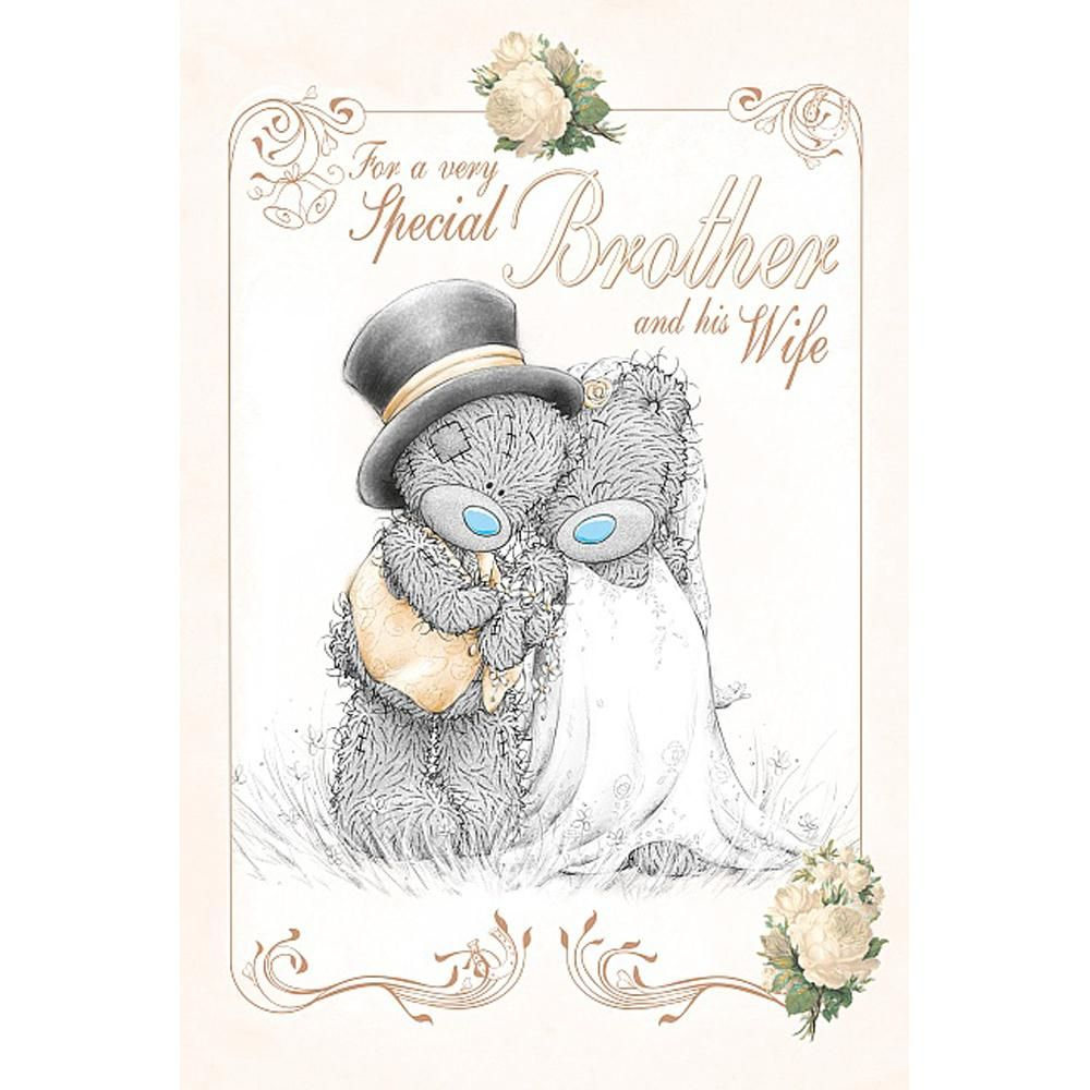 Brother & His Wife Me to You Bear Wedding Card £2.49 | I love bears ...