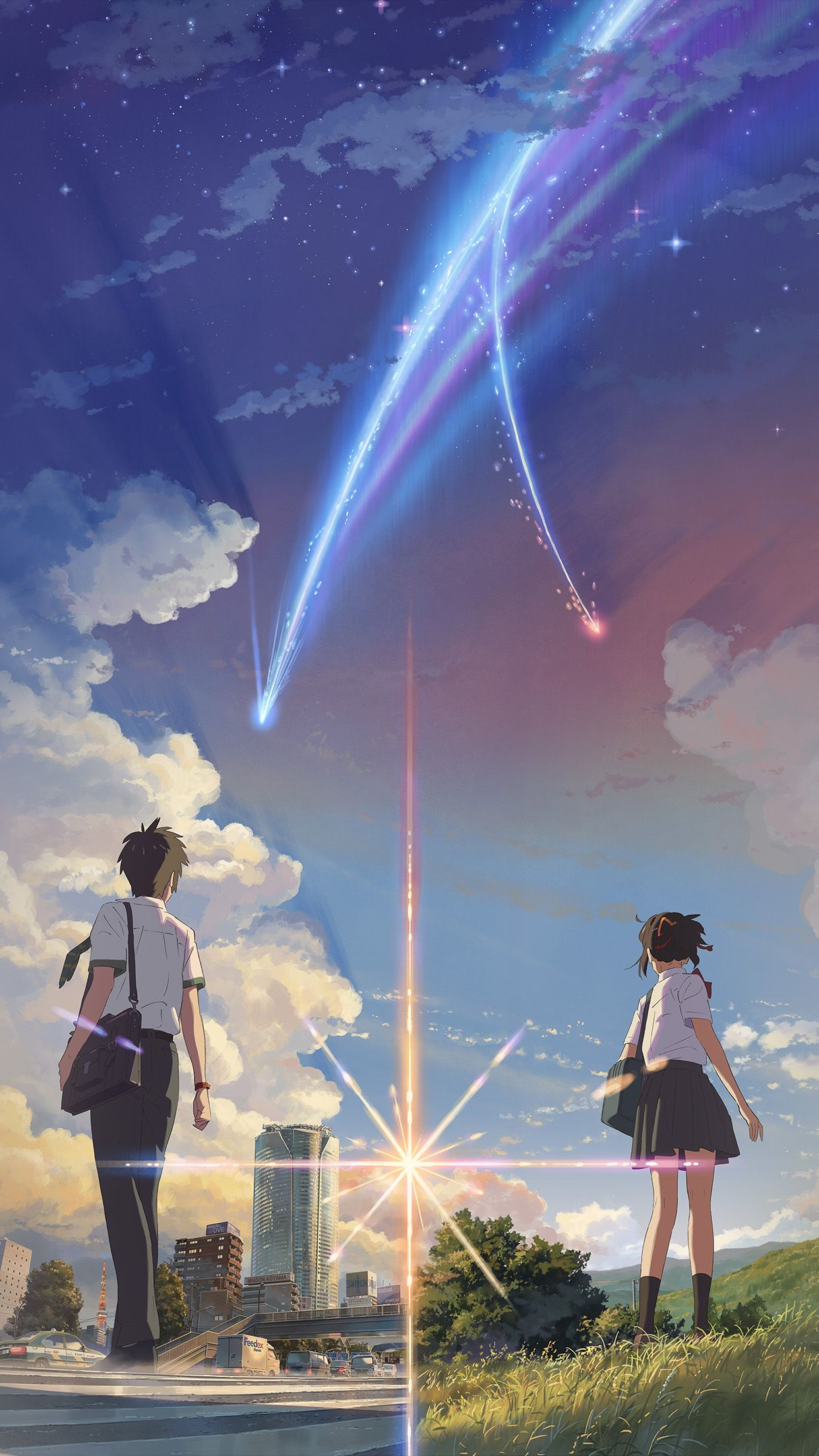 Awesome Boy And Girl Anime Art Spring Cute Iphone6 Plus Wallpaper