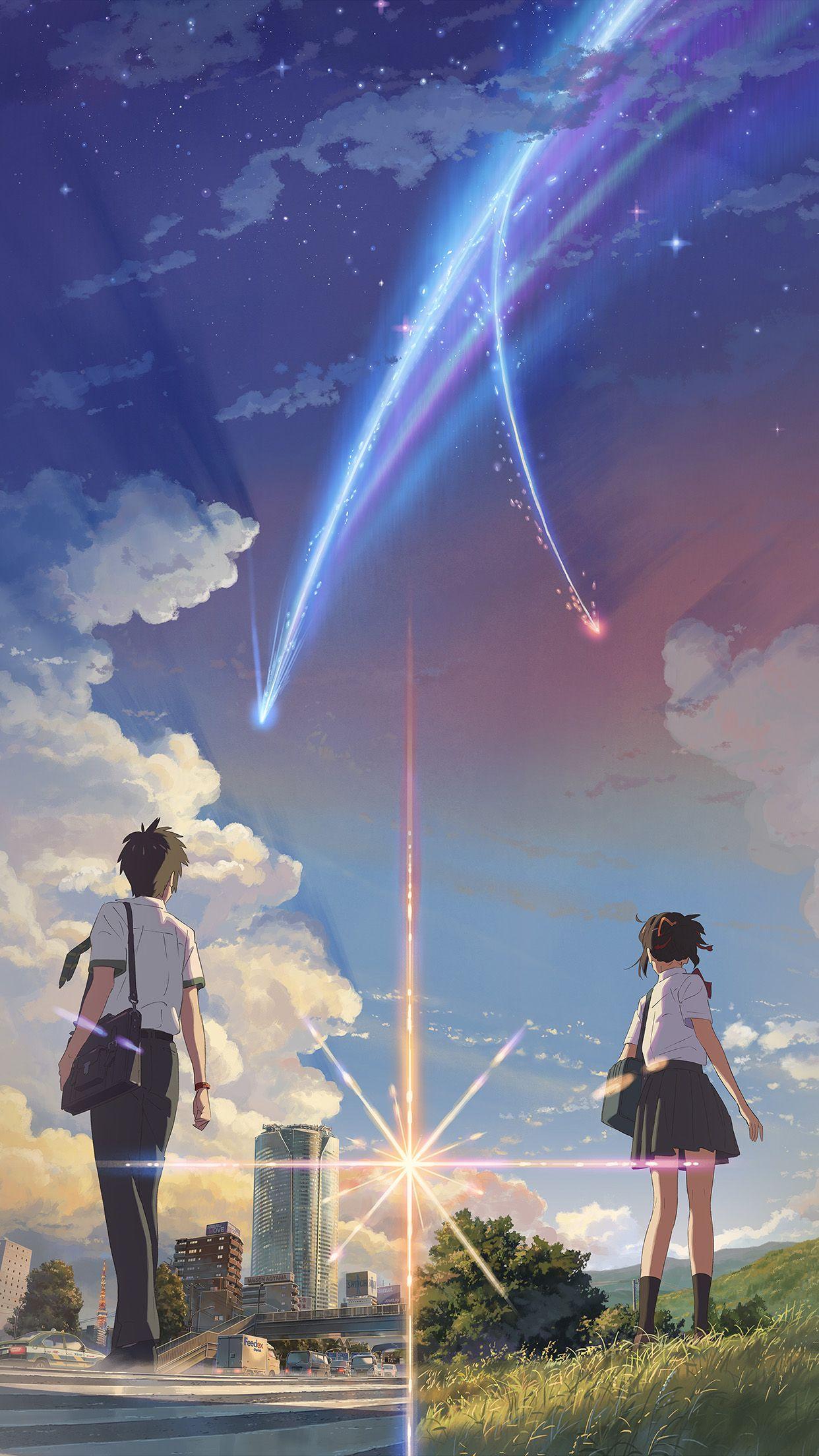 Boy And Girl Anime Art Spring Cute Iphone6 Plus Wallpaper Mobile Wallpapers Gambar Anime Jepang Gambar