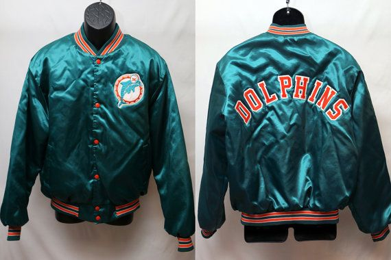 the latest 12c61 1990a Miami Dolphins Retro NFL Jacket Size L/LX by ...