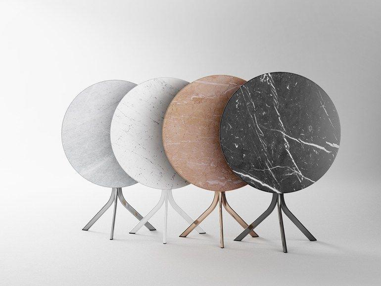 Tavolo chiudibile ~ Tavolo pieghevole rotondo bistro tavolo in marmo retegui