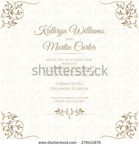 Invitation card with floral seamless pattern wedding invitation invitation card with floral seamless pattern wedding invitation template cards stopboris