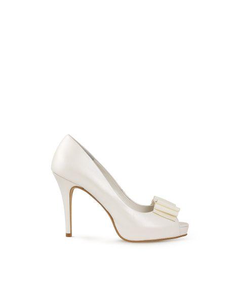 zapatos de novia aire barcelona   moda en blanco   pinterest
