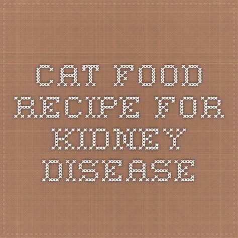 Cat Food Recipe for Kidney Disease